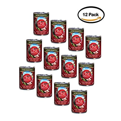 Purina ONE Pack of 12 SmartBlend True Instinct Tender Cuts in Gravy with Real Chicken & Duck Dog Food 13 oz. Can