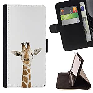 For Sony Xperia Z1 L39 Case , Jirafa Animal Africa Spots Naturaleza Minimalista- la tarjeta de Crédito Slots PU Funda de cuero Monedero caso cubierta de piel