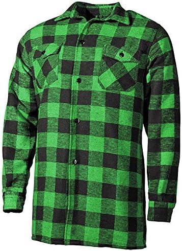 Outdoor Leñador Camisa Woodcutter Verde-Negro XXL: Amazon.es: Deportes y aire libre