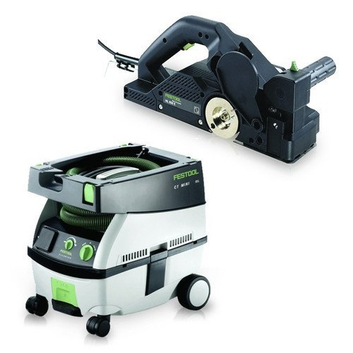 Festool PM574553 Planer with CT MINI 2.6 Gallon Mobile Dust Extractor by Festool