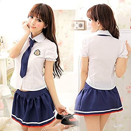a579b1bbf Roleeplay Sexy Lingerie, Japanese High School Tie, Student Outfit, Cute Girl  Skirt, Sexy School Uniform, Temptation Set,Small Code: Amazon.co.uk: DIY &  ...