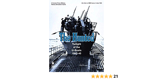 1943-45 NEW SEALED GMT GAMES THE HUNTED Twilight of the U-Boats