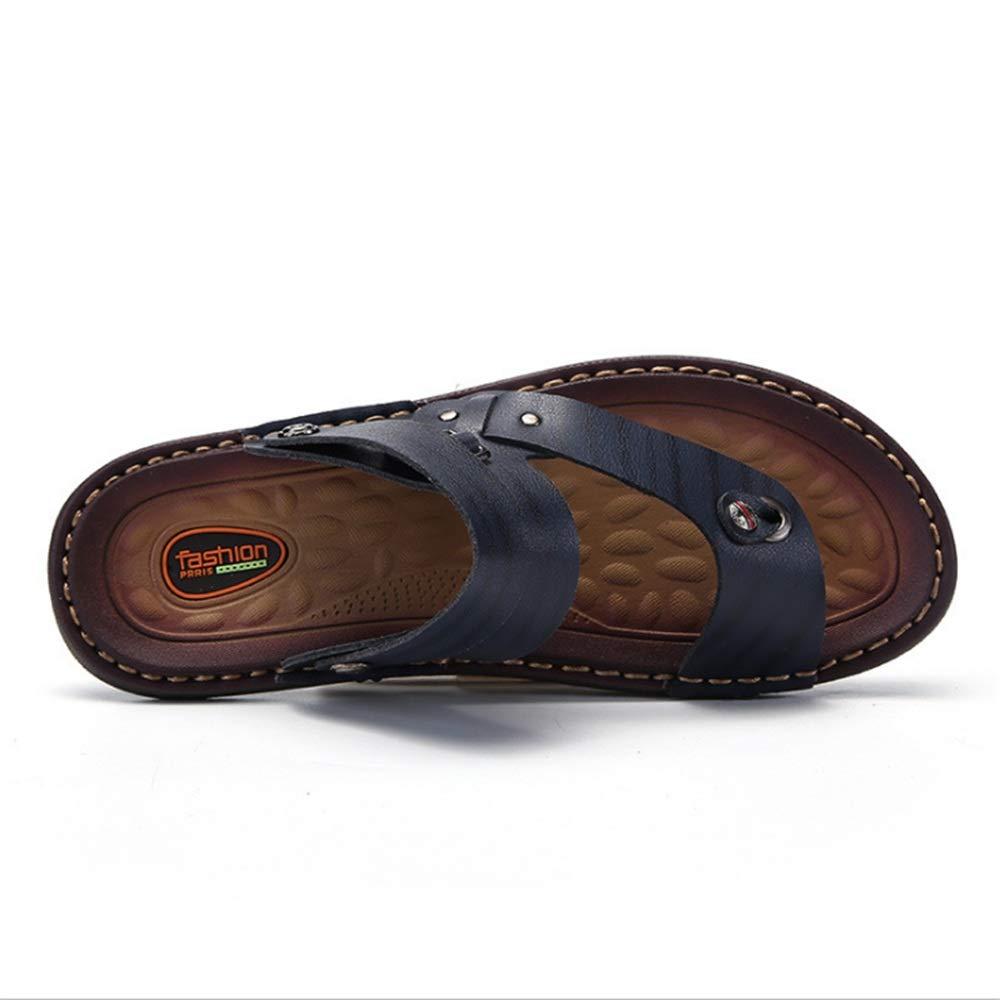 Wagsiyi Hausschuhe Freizeit Sandale Herren Sommer Outdoor Freizeit Hausschuhe und Anti-Rutsch-Strand Schuhe Blau Atmungsaktive Sandalen (24,0-28,0) cm Strandschuhe Blau 93832c