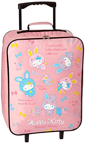 Hello Kitty Rolling Luggage (Furyu Hello Kitty Colorful Bunny Rolling Luggage Case, Pink)