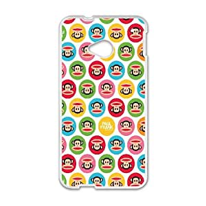 Polka Dot Design HTC One M7 Cell Phone Case White Phone cover F7624122