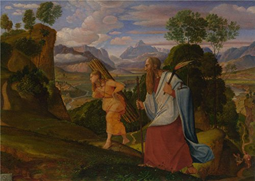 The Perfect Effect Canvas Of Oil Painting 'Johann Heinrich Ferdinand Olivier Abraham And Isaac ' ,size: 18 X 25 Inch / 46 X 64 Cm ,this High Quality Art Decorative Prints On Canvas Is Fit For Nursery Gallery Art And Home Decor And Gifts