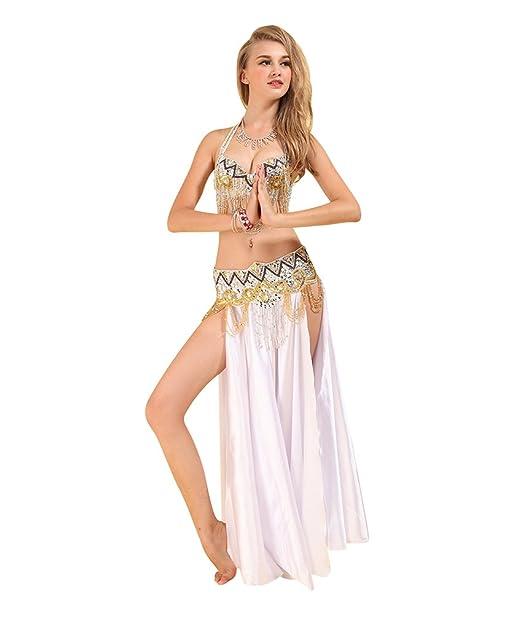 SunWanyi Mujeres Danza de Vientre Traje de Danza ...