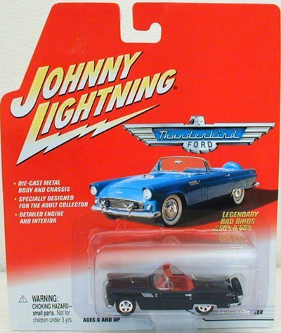 Johnny Lightning Racing Legends (Johnny Lightning Ford Thunderbird 1956 T-Bird Roadster Distributed By Playing Mantis 2001 Legendary Bad Birds of the 50's & 60's)