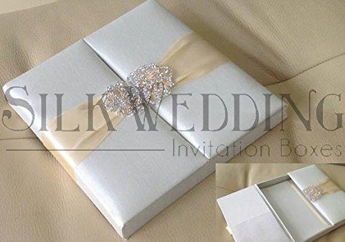 Wedding Silk Invitation Box (Silk Box Wedding Invitations)