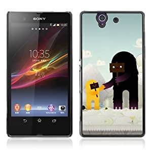 Designer Depo Hard Protection Case for Sony Xperia Z L36H / Cute Characters