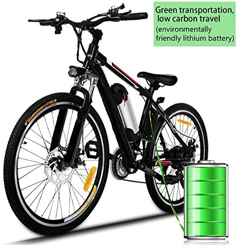Kepteen 26 inch Electric Mountain Bike, 21 Speed Lithium Battery Aluminum Alloy E-Bike Bicycle for Adult