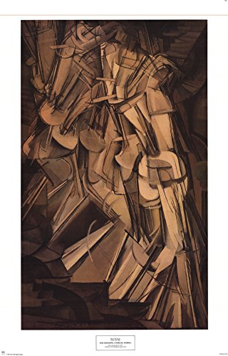 Marcel Duchamp-Nude Descending A Staircase, Number 2-Poster