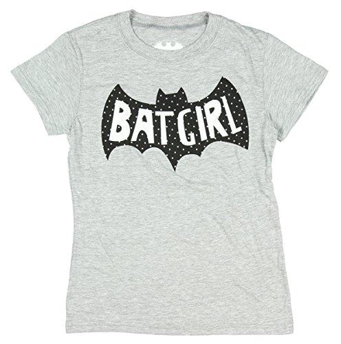 DC Comics Batgirl Girls Sugar Glitter Logo Heather T-Shirt