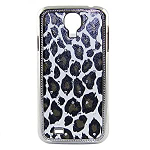 Electroplating Crystal Relief Leopard Pattern Hard Case for Sansung I9500