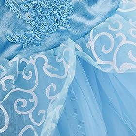 - 513rXCvhYKL - Children Princess Dress Up Costume Cosplay Dress for Girls Toddlers Party Birthday Girls Dresses Wonderful Gift