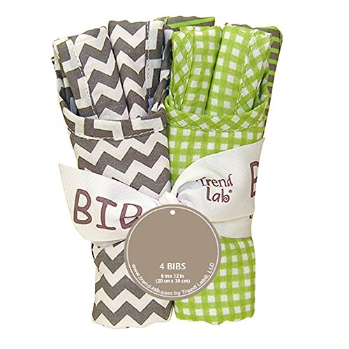 Trend-Lab Kids Toddler Infant Child Newborn Bouquet 4 Pack Bib - Perfectly Preppy Toys Christmas ()