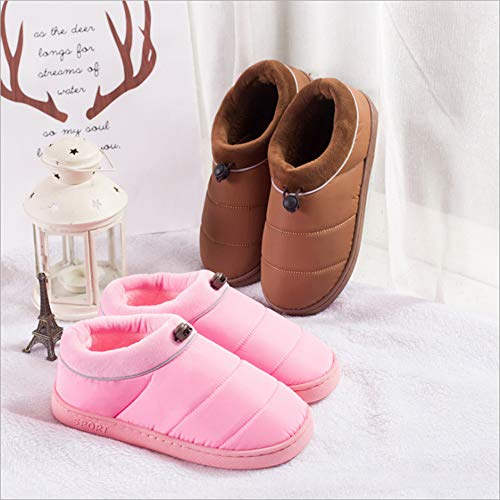 WILLIAM Slippers Warm Cotton Slip Home Couple Shoes Indoor Casual amp;KATE Slippers Khaki Thicken Non Cotton Men's Women rxqzZ4wr