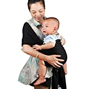 My miumiu Baby Straps Baby Wrap Carrier Baby carrier (Black)