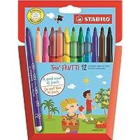 Stabilo Trio Frutti - Estuche de rotuladores de punta mediana, tinta perfumada - colores variados, color colores…