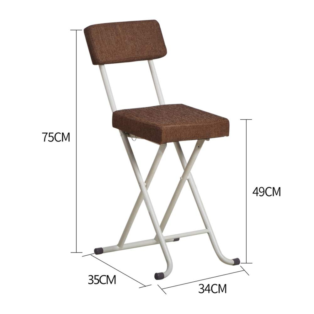 Brown 343579CM ZAHOYONGLI Chairs,Folding Chairs Portable Folding Breakfast Bar Stool Seat Chair Soft (color   Brown, Size   34  35  79CM)