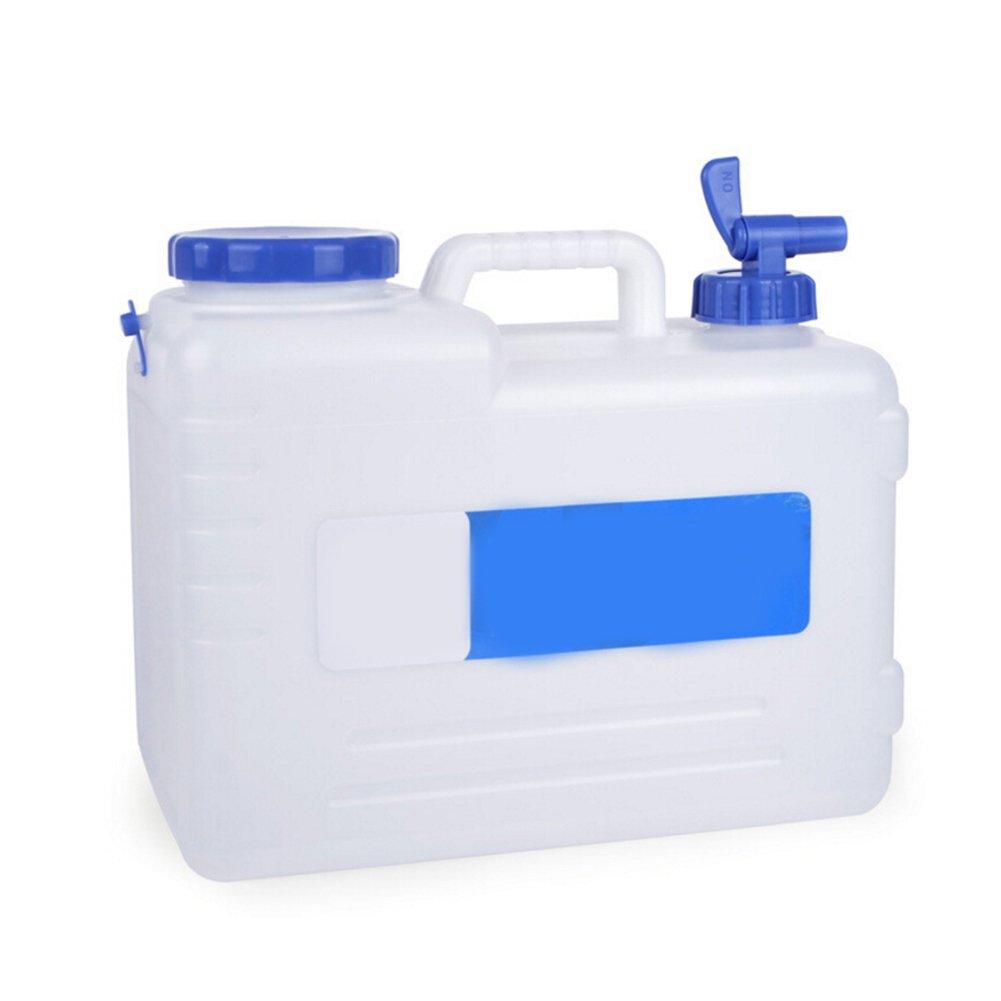 Almacenamiento Bebidas ATpart Cubo de Viaje Al Aire Libre Hogar Cubo port/átil de 15 litros para el Coche para Acampada Blanco
