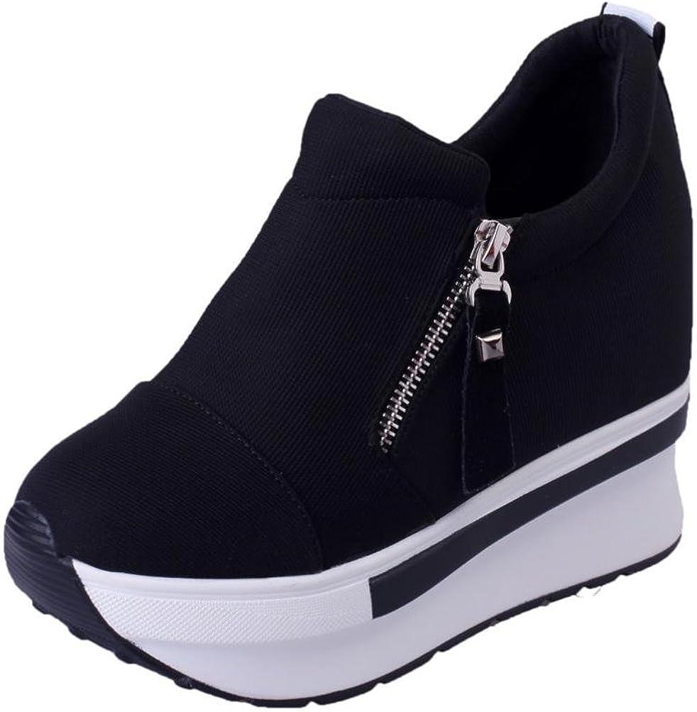 Women Wedges Boots Platform Shoes Slip