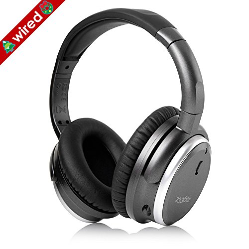 Active Noise Cancellation Headphones (233621 H501 Active Noise Cancelling Headphones with Microphone, Wired Over Ear Headphones Stereo Headsets with Case for Smartphone, Laptop, Tablet, PC (Space Grey/Upgraded))