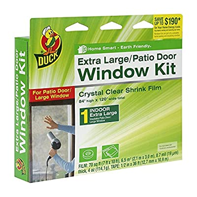 Duck Brand Indoor Window Shrink Film Insulator Kit, (2 Pack Extra Large Window)