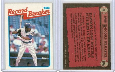 1989 TOPPS ANDRE DAWSON #4 CHICAGO CUBS RECORD BREAKER