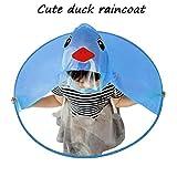 UFO Raincoat Children Umbrella Hat Magical Hands Free Cute Rain Coat (S, Blue)