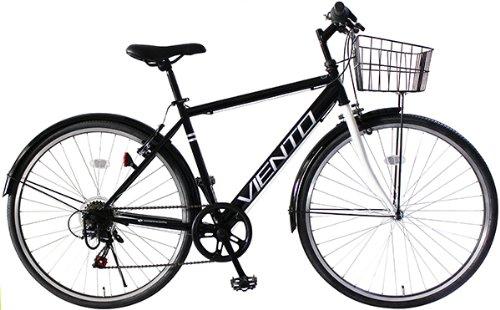 トップワン(TOP ONE) 26インチシティクロスバイク シマノ製6段ギア ブラック T-MCA266-43-BK ブラックピンクホワイト B00K2QWC3A