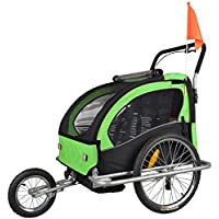 TIGGO World Children Bicycle Trailer & Jogging Stroller Combo LEMON 502-02 JBT03A-D02