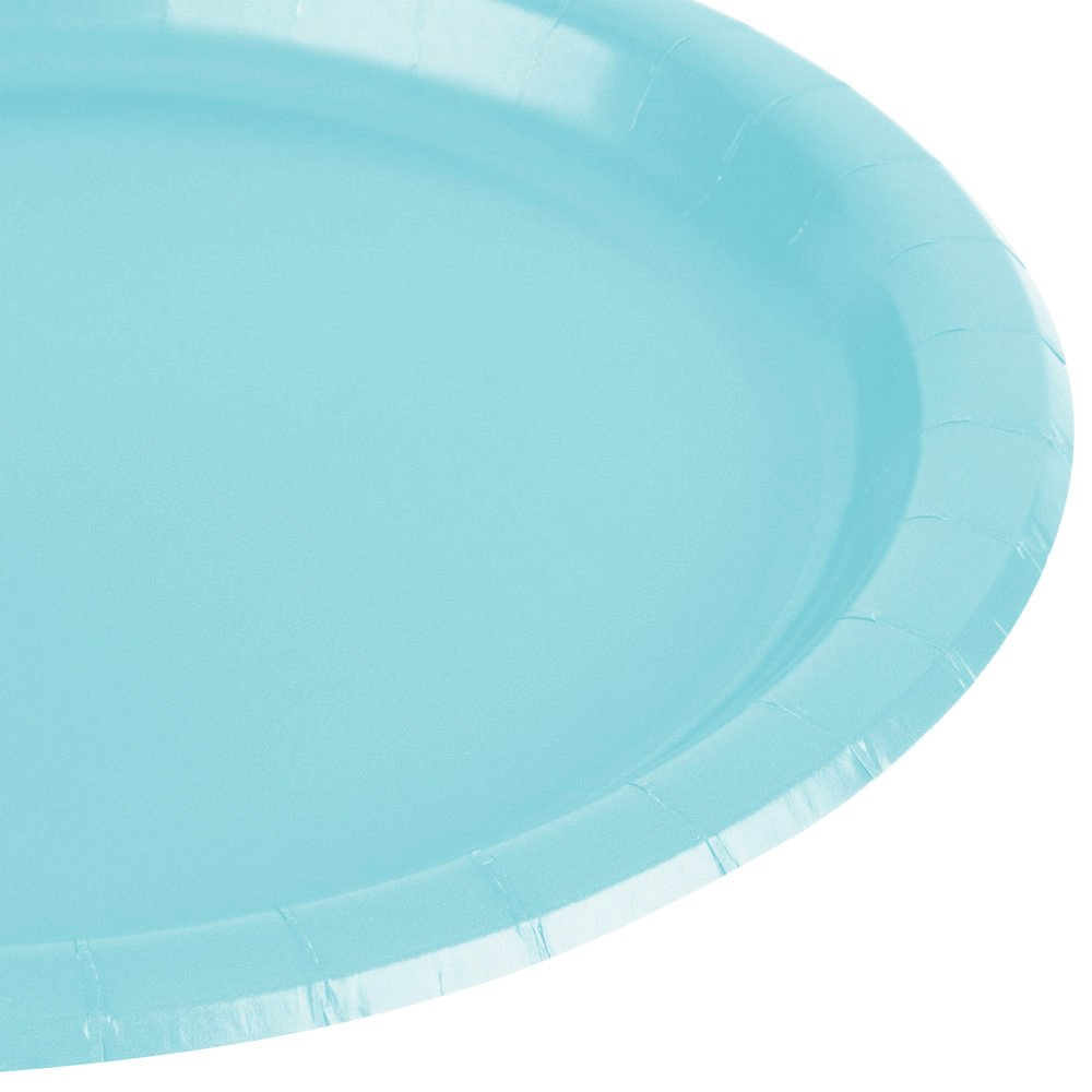 Amscan Party Perfect Cool Round Dinner Plates Tableware, 20 Pieces, Made from Paper, Robin s-egg Blue, 10 1/2'' by