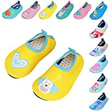 Caitin Kids Swim Water Shoes Barefoot Aqua Socks for Girls Boys Beach Pool Surfing Yoga Shoes