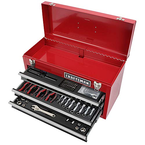 CRAFTSMAN 178 TOOL SET WITH CRAFTSMAN 3 DRAWER TOOL BOX (Craftsman Tool Box Set)