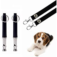 Hivernou Dog Whistle to Stop Barking, Adjustable Pitch Ultrasonic Training Tool Silent Bark Control for Dogs- Pack of 2…