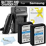Best ButterflyPhoto Digital Cameras - 2 Pack Battery and Charger Kit For Samsung Review