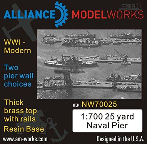 Alliance Model Works 1:700 25Yard Naval Pier WWI-Modern Pier Wall Choice NW70025