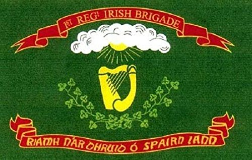 3x5 1st Irish Brigade Flag with Ireland Harp Union War Infantry Banner Vivid Color and UV Fade Resistant Canvas Header and Double Stitched polyester materia ()