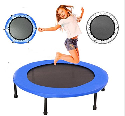 MD Group Kids Mini Trampoline 40inch Round Fitness Rebounder Jogger Home Gym Exercise Sports Protective Gear