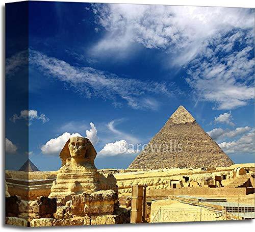 エジプトピラミッドピラミッドとスフィンクスギャラリーWrappedキャンバスアート 12in. x 12in. B073WLT49M  12in. x 12in.