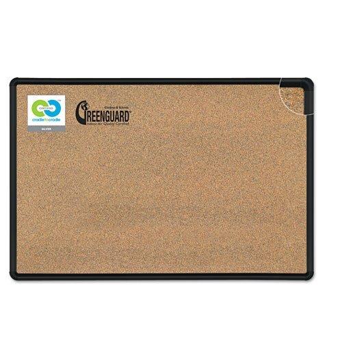 Black Splash-Cork Board, 48 x 36, Natural Cork, Black Frame, Sold as 1 Each by Best-Rite by Best-Rite