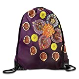 FYW Country Festive Celebration In Religious Sacred Day Diwali Flowers And Burning Candles Drawstring Bags Visor Backpack Sport Bag For Men & Women