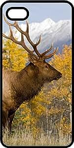 Big Game Deer In Field Scene Black Plastic Decorative iPhone 6 Plus Case