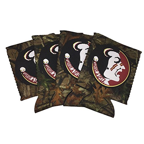 Florida State Seminoles Insulated Bottle (Florida State Seminoles FSU 4-Pack Camouflage Neoprene Beverage 12oz Insulated Can Hugger Cooler)