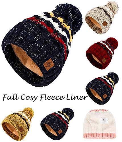 polar Men Female C Pompom Size Color de Beanies punto One al por For 4sold Gold Beanie Pursed Circle Forro y Lady Winter mayor 1Bgn0gdq4w