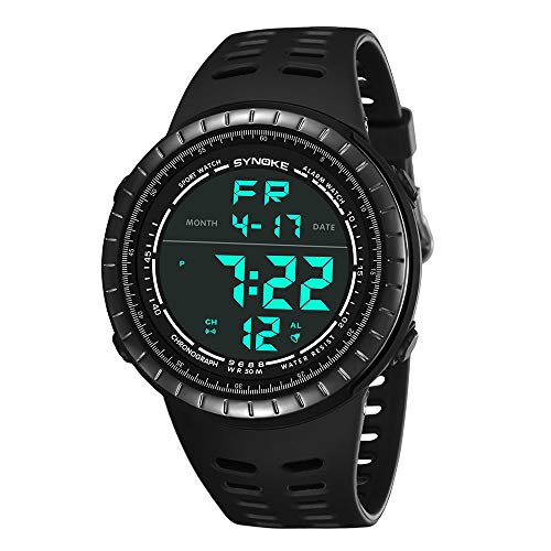 Bestow SYNOKE Multi-Function Impermeable Reloj LED Digital Doble Accišn Reloj Deportivo Reloj Electršnico(Gris): Amazon.es: Ropa y accesorios