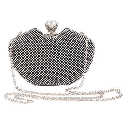 Damara Evening Rhinestones Shape Damara Women Allover Bags Evening Allover Women Silver Apple Apple Shape Rhinestones qwqUgC