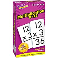 "Math Flash Cards, Multiplication, 0 To 12, 3""x5-7/8"""