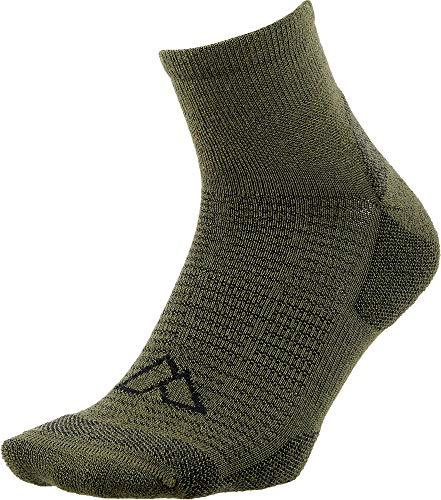 Alpine Design Quarter Hiking Socks, (Beatle/Black, Large)